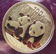 1/4 Oz Gold China Panda 2014/15/16