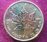1/10 Oz Gold Maple Leaf